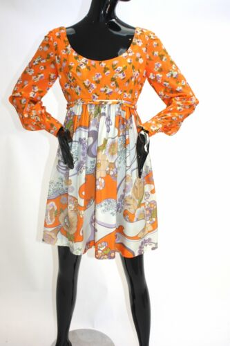 Vintage 1970s Psychedelic mini dress