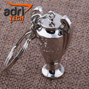 PORTA-CHIAVI-CALCIO-FOOTBALL-KEYRINGS-COPPA-MINI-TROFEO-CHAMPIONS-LEAGUE-METALLO
