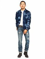 Prps Goods Distressed Denim Button Down Shirt Jacket Size XL 34/35 - $395 Retail