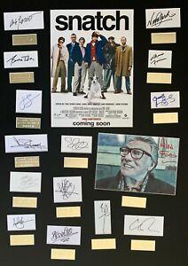 SNATCH, BRAD PITT, JASON STATHAM, GUY RITCHIE FILM hand signed frame
