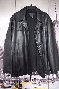 J Crew BLACK Leather Jacket with wool lining  size MEN'S L