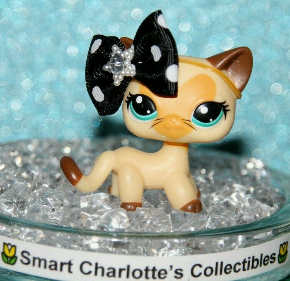 LITTLEST PET SHOP RARE NEW CREAM HEART FACE FACE FACE KITTY ACCESSORIES ebbb7a