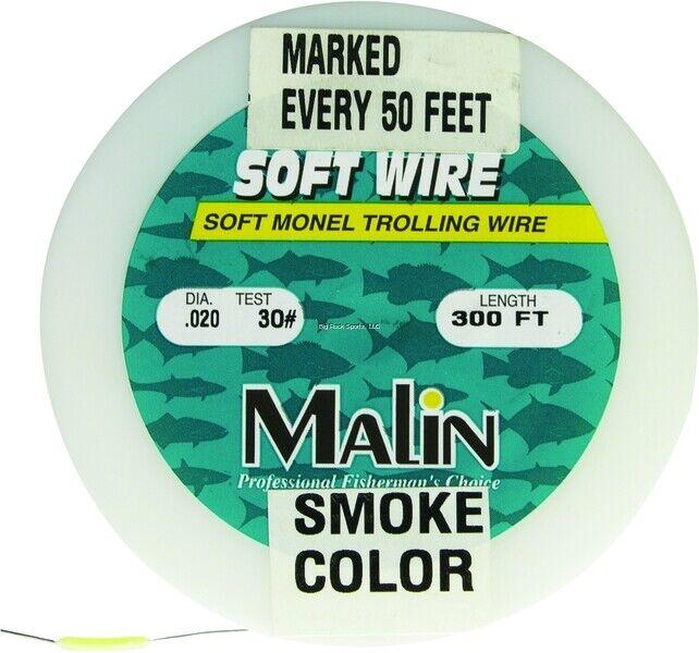 New Malin Soft Monel Trolling Wire PreMarked 300' Spool .24 Dia 40lb PM40300
