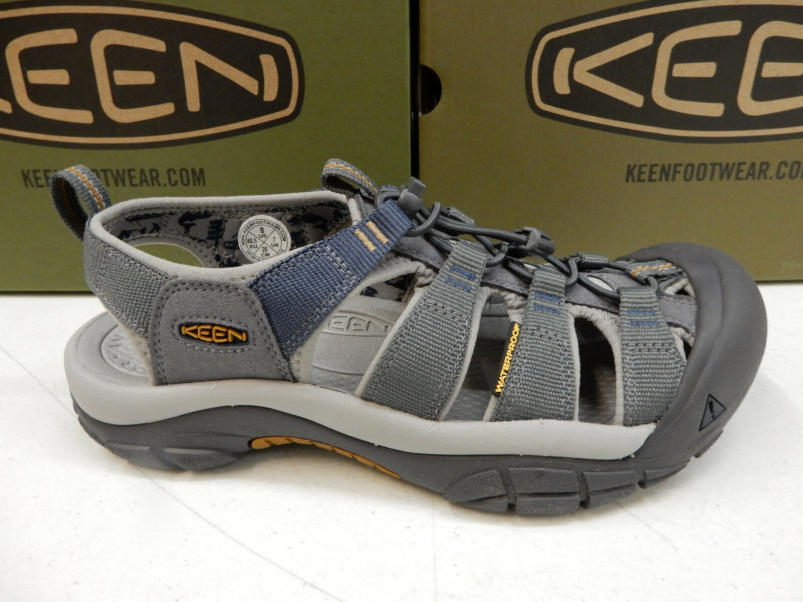Keen Mens Newport H2 Steel Grey Paloma Size 13