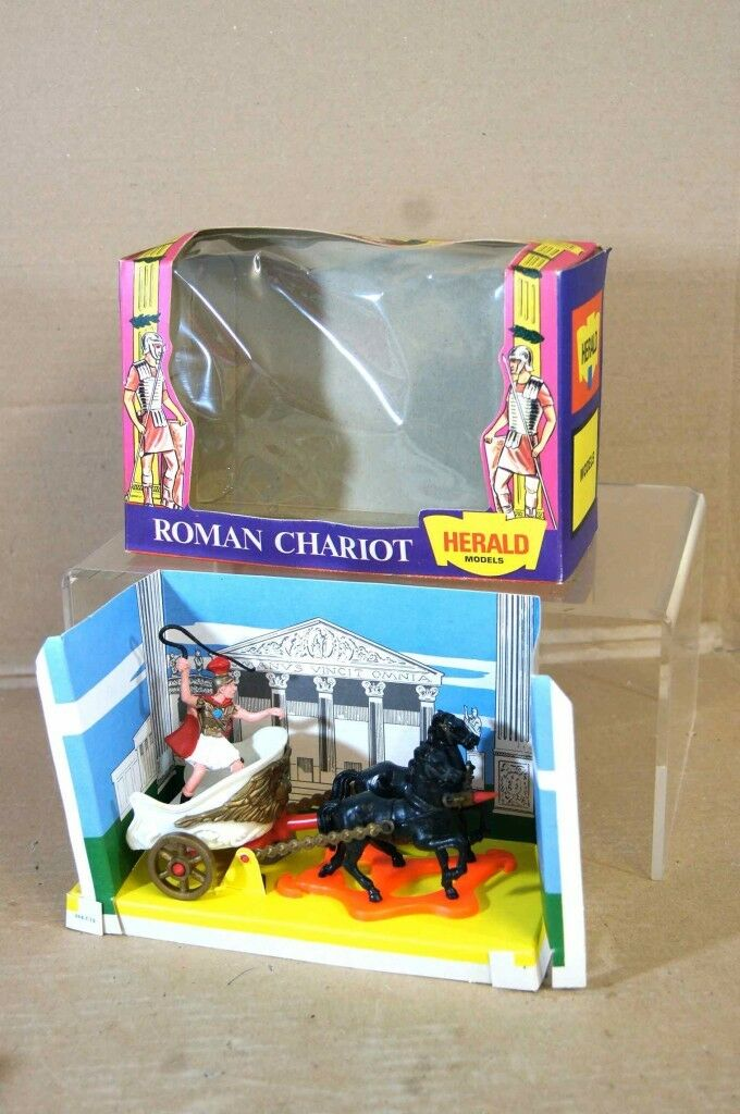 BRITAINS 4590 HERALD SERIES ROMAN CHARIOT NEW BOXED RARE ms