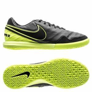 Nike-Tiempox-Proximo-IC-843961-070-Black-Bolt-Indoor-Soccer-Shoes-NEW-Tiempo-X