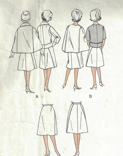 1960s Vintage VOGUE Sewing Pattern B36  SKIRT JACKET CAPE JEAN DESSES 1560R