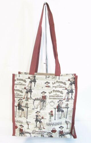 Lady on Beige design Multi-coloured Tapestry Tote Shopper Bag  Signare