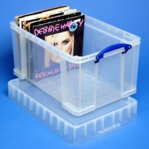 48 Litre Xl Really Useful Box 140 Vinyl Lps Records Dj