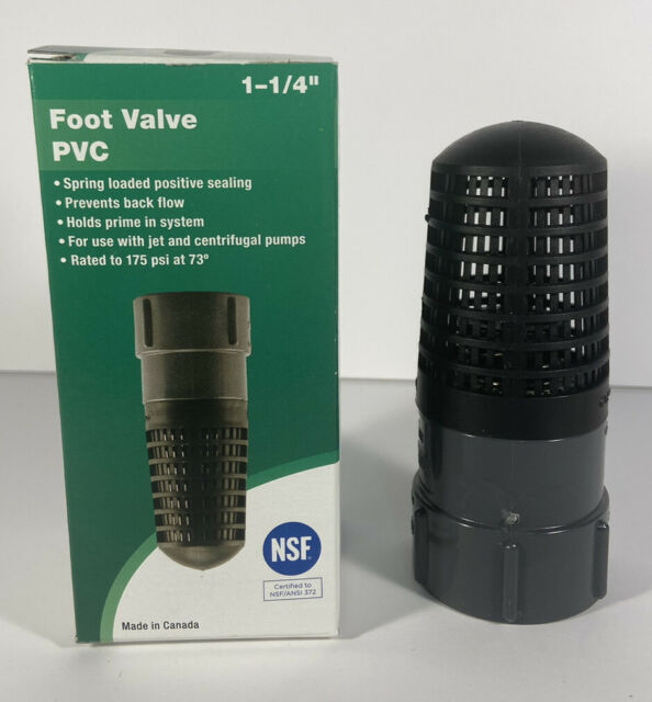 26831 for sale online Set of 2 ProPlumber 1 1//4-inch Positive Sealing PVC Foot Valve