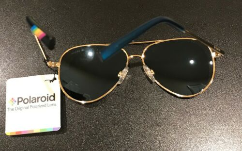 Polaroid junior Kids Sunglasses pilot Gold Blue Miror Polarized