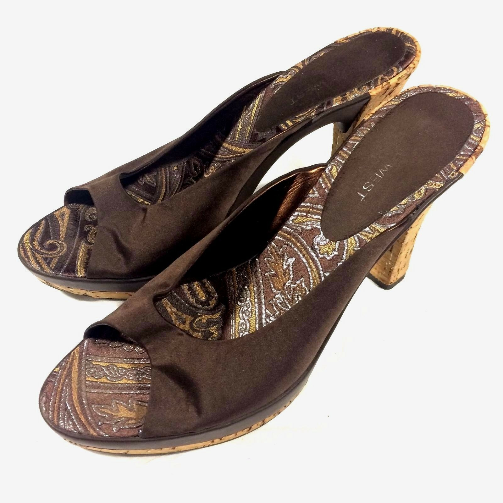 Nine Women West Sandals Women Nine Size 9 Cork Heels 1df697