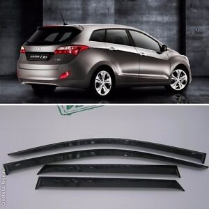 for hyundai i30 ii wagon 2012 2015 window visors sun rain. Black Bedroom Furniture Sets. Home Design Ideas