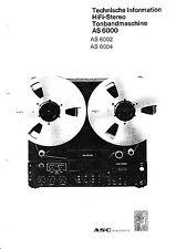 Service Manual-Anleitung für ASC AS 6000/AS 6002/AS 6004