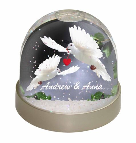 Doves Personalised Valentines Day Gift Photo Snow Globe Waterball Stock AB-D7GL