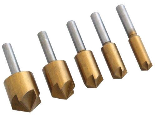 Neilsen Wood Countersink Set Titanium Coated  8mm 10mm 12mm 16mm /& 19mm   8A