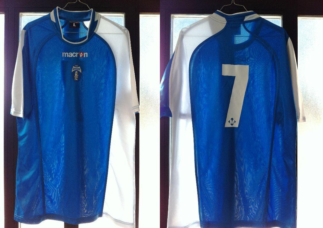 Maglia shirt sangiovannese nr 7 usata L perfetta match worn indossata macron