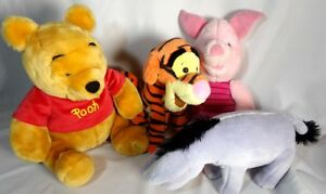 4 Winnie The Pooh Eeyore Piglet Tigger Stuffed Animal Toys Disney Characters