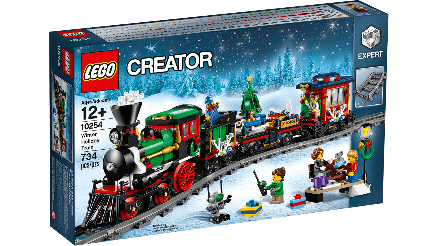 LEGO 10254 Winter Holiday Train Expert 12+ Pz 734