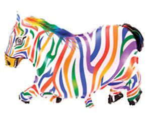 Diapositives-ballon-zebre-colore-Ballon-Helium-Ballon-Enfants-Anniversaire-Animal-en-cours