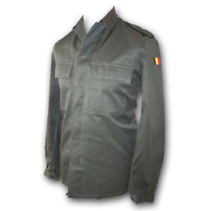 BELGIAN-ARMY-ISSUE-SHIRT-GENUINE-OLIVE-GREEN-SURPLUS-JACKET-USED-NEW