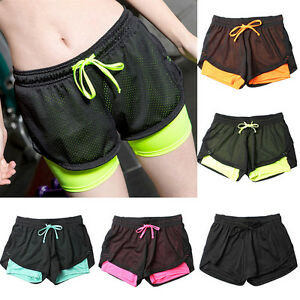 e77d70ecf3ac Detalles de Moda mujer pantalones cortos deportivos de ver~GN