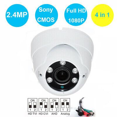4 in 1 1080P 4MP SONY CMOS IR OUTDOOR  DOME CCTV Security Camera AHD TVI usa