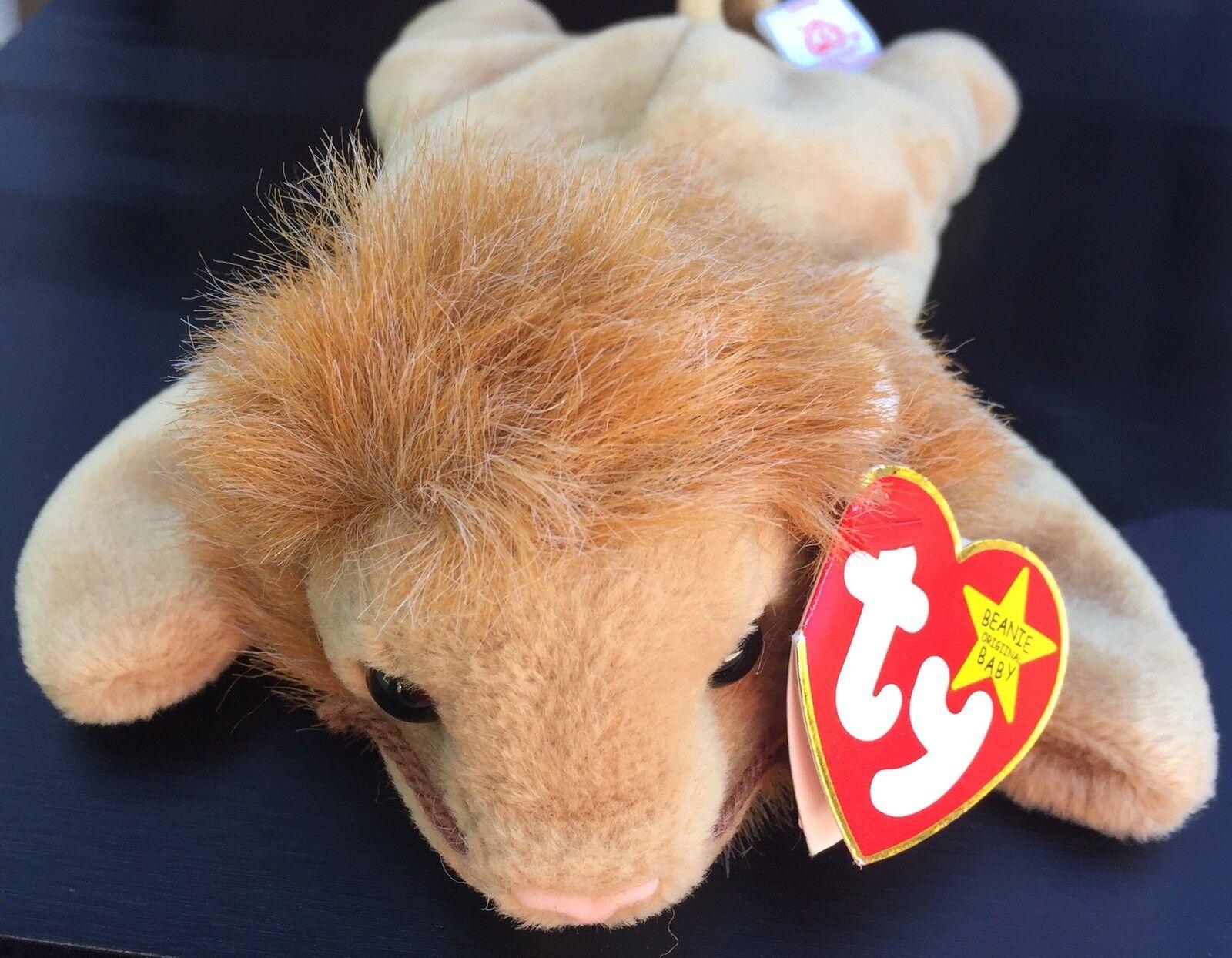 Ty Beanie Baby Roary Born 2-20-1996 RARE WITH ERRORS RETIRED
