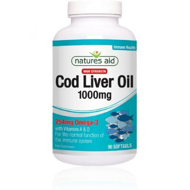 Natures Aid Cod Liver Oil 1000mg 180 Softgels