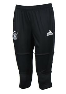 c11b692f78046 Details about Adidas Men Germany DFB 3/4 Shorts Training Pants Black Soccer  Bottom Pant B10603