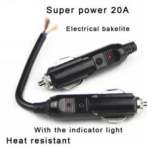 12-24V-Male-Car-Cigarette-Lighter-BU-Socket-Plug-Connector-With-20A-Fuse-LED