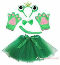Halloween Party Adult Women Crown Frog Headband Paw Tail Bow Gauze Skirt Costume