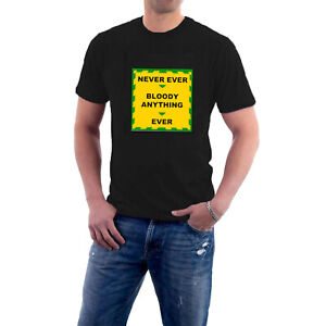 Mr Jolly T-shirt Never Ever Bloody Anything Ever Comic Strip Green Gov Sillytees