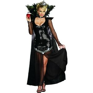 Image is loading Evil-Queen-Costume-Adult-Sexy-Wicked-Ravenna-Halloween-  sc 1 st  eBay & Evil Queen Costume Adult Sexy Wicked Ravenna Halloween Fancy Dress ...