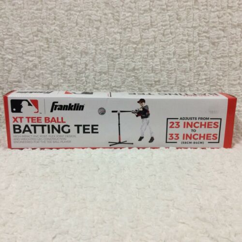 """Tall Batting Tee adjusts 23/"""" to 33/"""" high impact PVC post from Franklin Sports"""