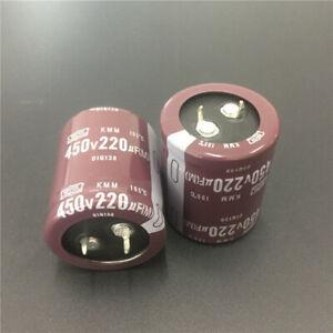 2-Stueck-Radial-Elektrolytkondensatoren-450V-220uF-105-C-Elko-Kondensator