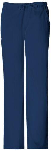 Cherokee Scrubs 1066T NAVV Navy Tall Low Rise Straight Leg Drawstring Pant