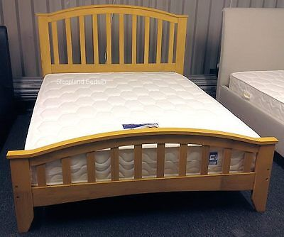 sale retailer 29cd6 4e1fe Maple 4ft Small Double Wooden Bed Frame - Solid Hard Wood | eBay