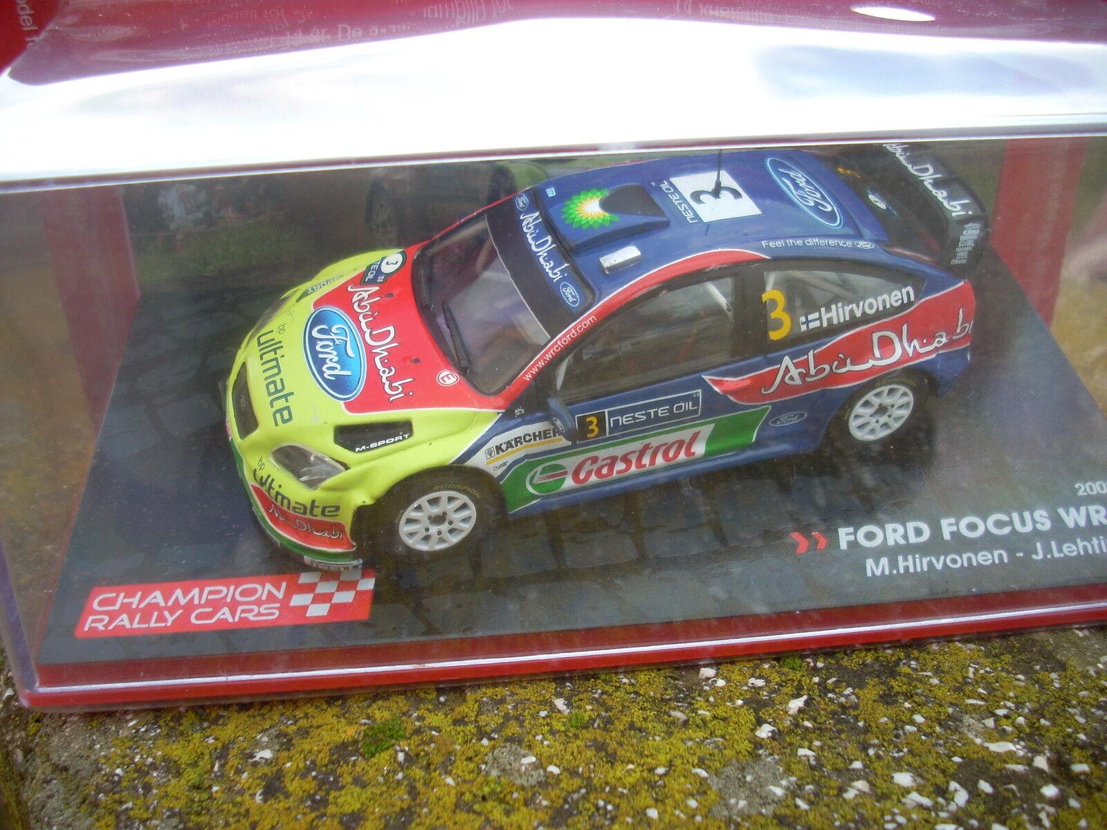 FORD FOCUS FOCUS FOCUS WRC 2008 M.HIRVONEN-J.LEHTIEN scala 1\43 8d4a75