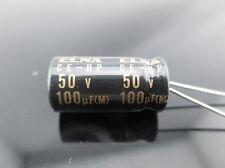 2pcs Elna Capacitors RBD 100uf 50V Audio Series Bi Polar Capacitors