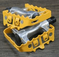 "Yellow Iped Platform Bicycle Pedals 9//16/""  BMX MTB FiXiE Track Road Bike Cruiser"