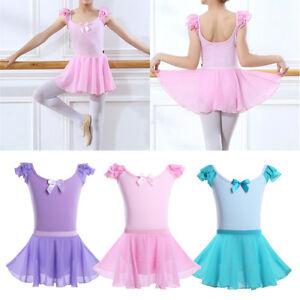 18dc12eed 2 Pcs Kids Girls Ballet Gymnastics Leotard Tutu Skirt Dress Dance ...