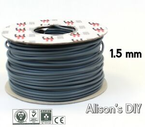 1-5-mm-Blue-Grey-Single-Core-Cable-6181Y-Double-Insulated-Light-Wire