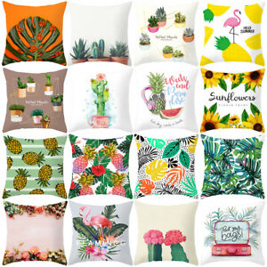 Am-GT-Charm-Flamingo-Leaf-Pineapple-Cactus-Pillow-Cover-Cushion-Case-Sofa-Bed