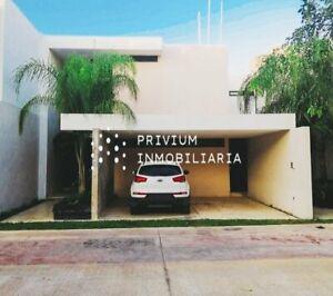 MERIDA RENTA CASA EN PRIVADA GRAND VIEW 3 RECAMARAS Y PISCINA TRATO DIRECTO