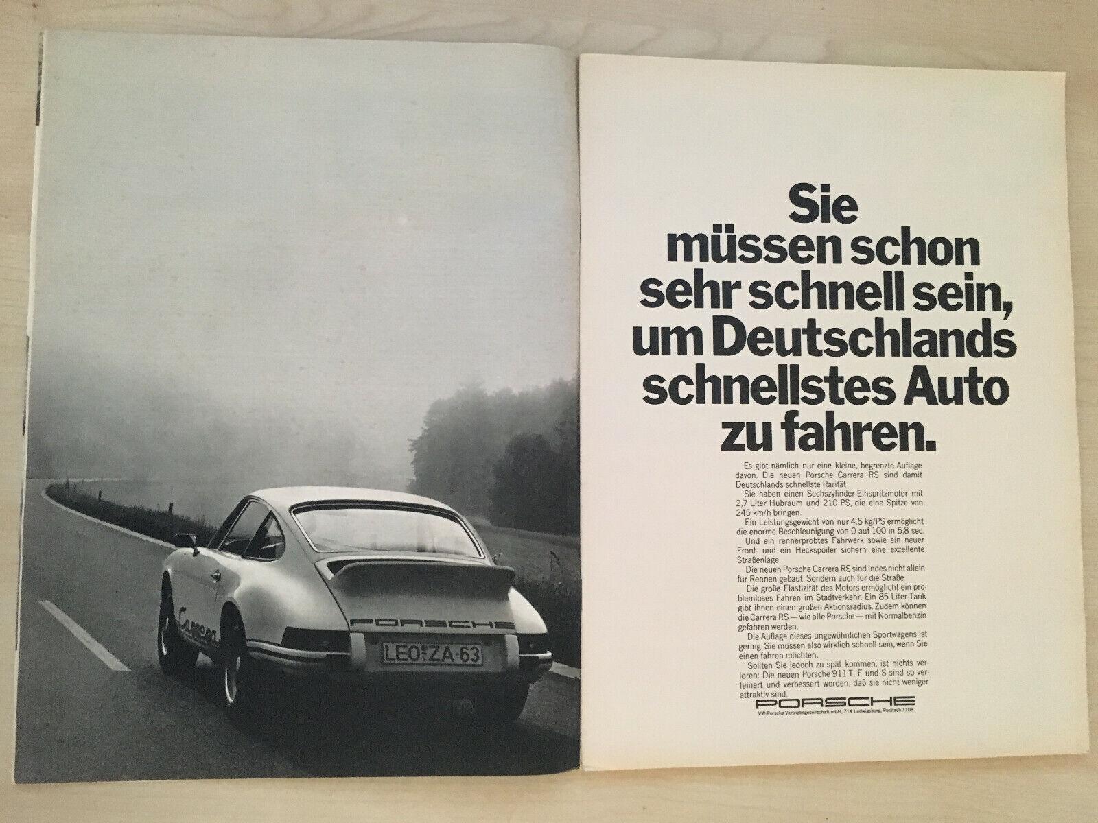 Anzeige//Werbung Nr.2 Porsche 911 Targa
