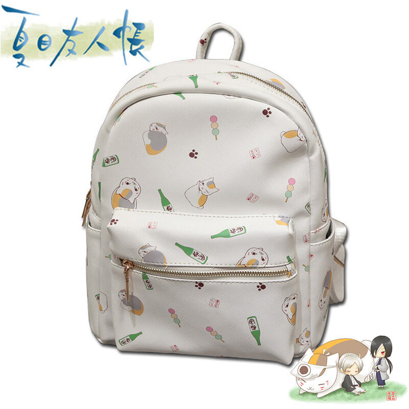 Natsume Yuujinchou Cat Backpack School Bag Shoulder Bag Bookbag Rucksack Wallet