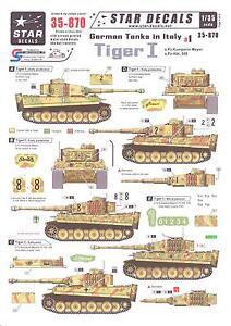 Star Decals 1 35 German Tanks In Italy Part 1 Tiger I Tank Ebay