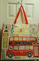 Tj Maxx London The Tower Bridge & Misc Places Reuse Shop Tote Bag Xl -set Of 2