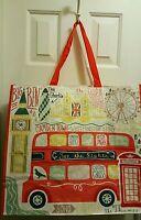 Tj Maxx London Various Places Theme Bag Reuse Shop Travel Beach Tote Set Of 2